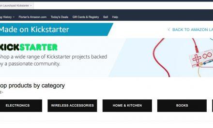 Amazon Kickstarter Shop