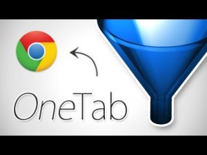 onetab chrome extension lost in drones