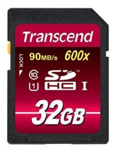 transcend 32 GB class 10 SD Speicherkarte