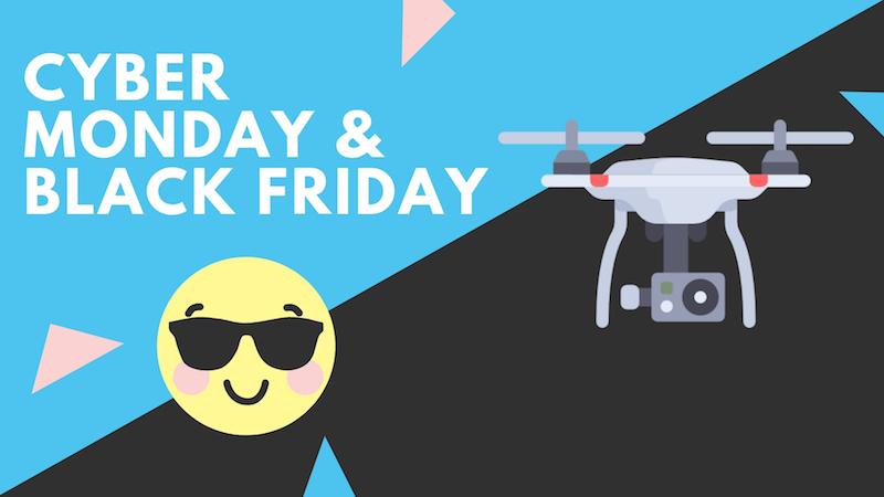 cyber monday drone drohnen angebote black friday Klein