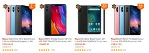 xiaomi smartphone black friday banggood