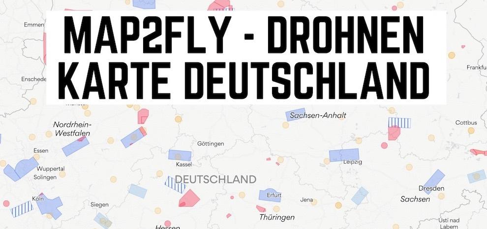 Map2fly Drohnen karte flug erlaubt in deutschland app webseite