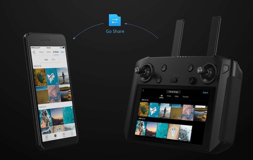 dji smart controller - drohnen fernbedienung remote mit bildschirm