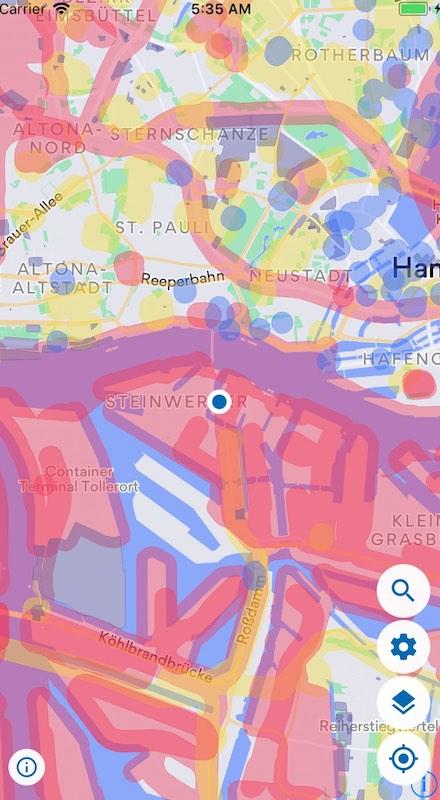 map2fly app karte drohnen flug in deutschland K