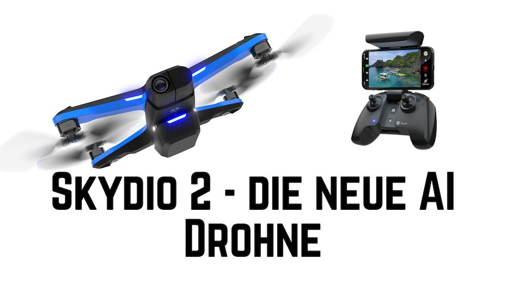 Skydio 2 – autonome AI Drohne im Anflug